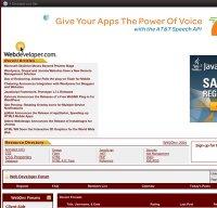 webdeveloper.com screenshot