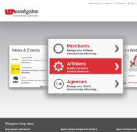 webgains.com screenshot