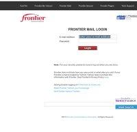 webmail.frontier.com screenshot