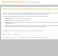 webofknowledge.com screenshot