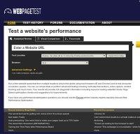 webpagetest.org screenshot