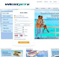westjet.com screenshot