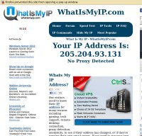 whatismyip.com screenshot