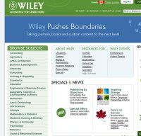 wiley.com screenshot