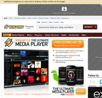 winamp.com screenshot