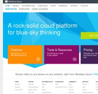 windowsazure.com screenshot