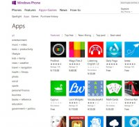 windowsphone.com screenshot