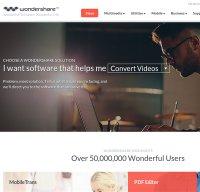 wondershare.com screenshot