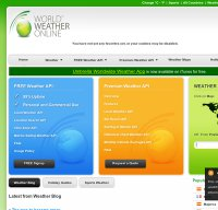 worldweatheronline.com screenshot