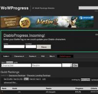 wowprogress.com screenshot