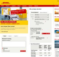 www.dhl.de screenshot