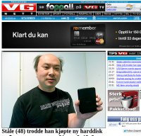 www.vg.no screenshot