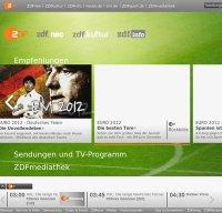 www.zdf.de screenshot