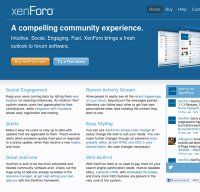 xenforo.com screenshot