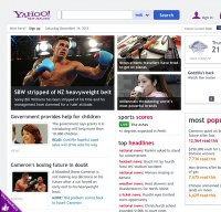yahoo.co.nz screenshot