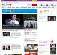 yahoo.com.au screenshot