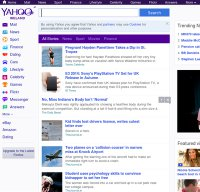yahoo.ie screenshot