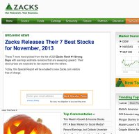 zacks.com screenshot