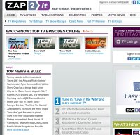 zap2it.com screenshot