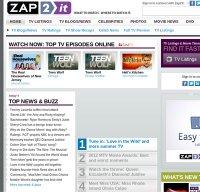 zap2it.com screenshot