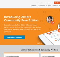 zimbra.com screenshot