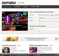 zomato.com screenshot